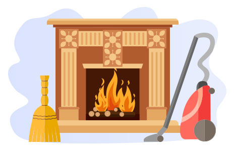 maintain a fireplace